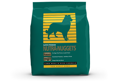 Nutra-Nuggets US Lamb Meal and Rice bag
